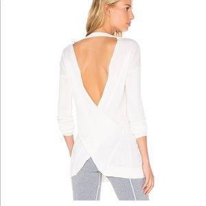 Vimmia Shavasana Reversible Two-Way Sweater Crossover V-Neck White M NWT